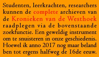 Doorzoek de complete Kronieken van de Westhoek